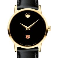 Auburn University Women's Movado Gold Museum Classic Leather
