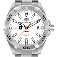 New York University Men's TAG Heuer Steel Aquaracer