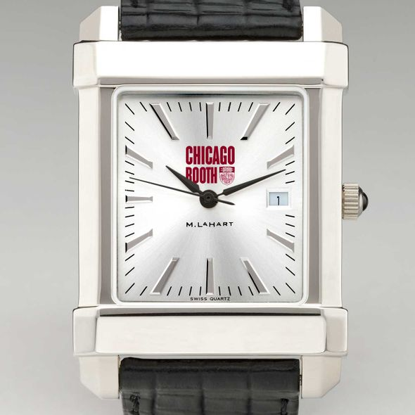 Chicago Booth Men's Collegiate Watch with Leather Strap - Image 1