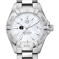 University of North Carolina Women's TAG Heuer Steel Aquaracer w MOP Dial
