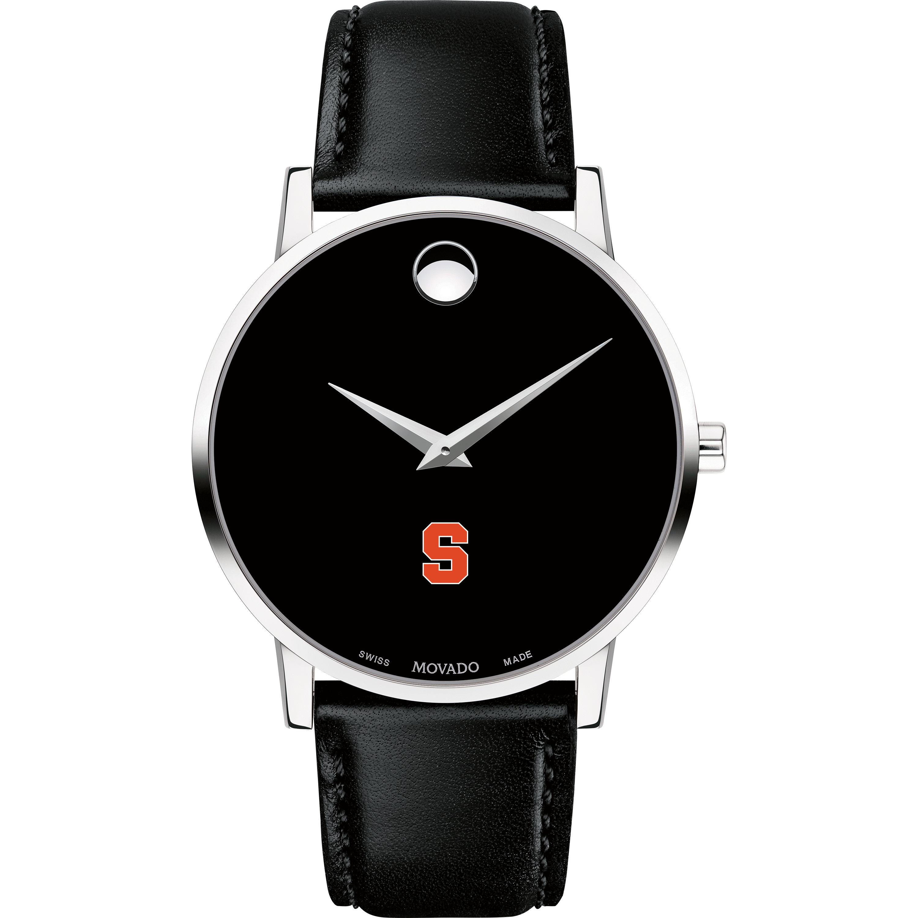 Syracuse University Men's Movado Museum with Leather Strap - Image 2