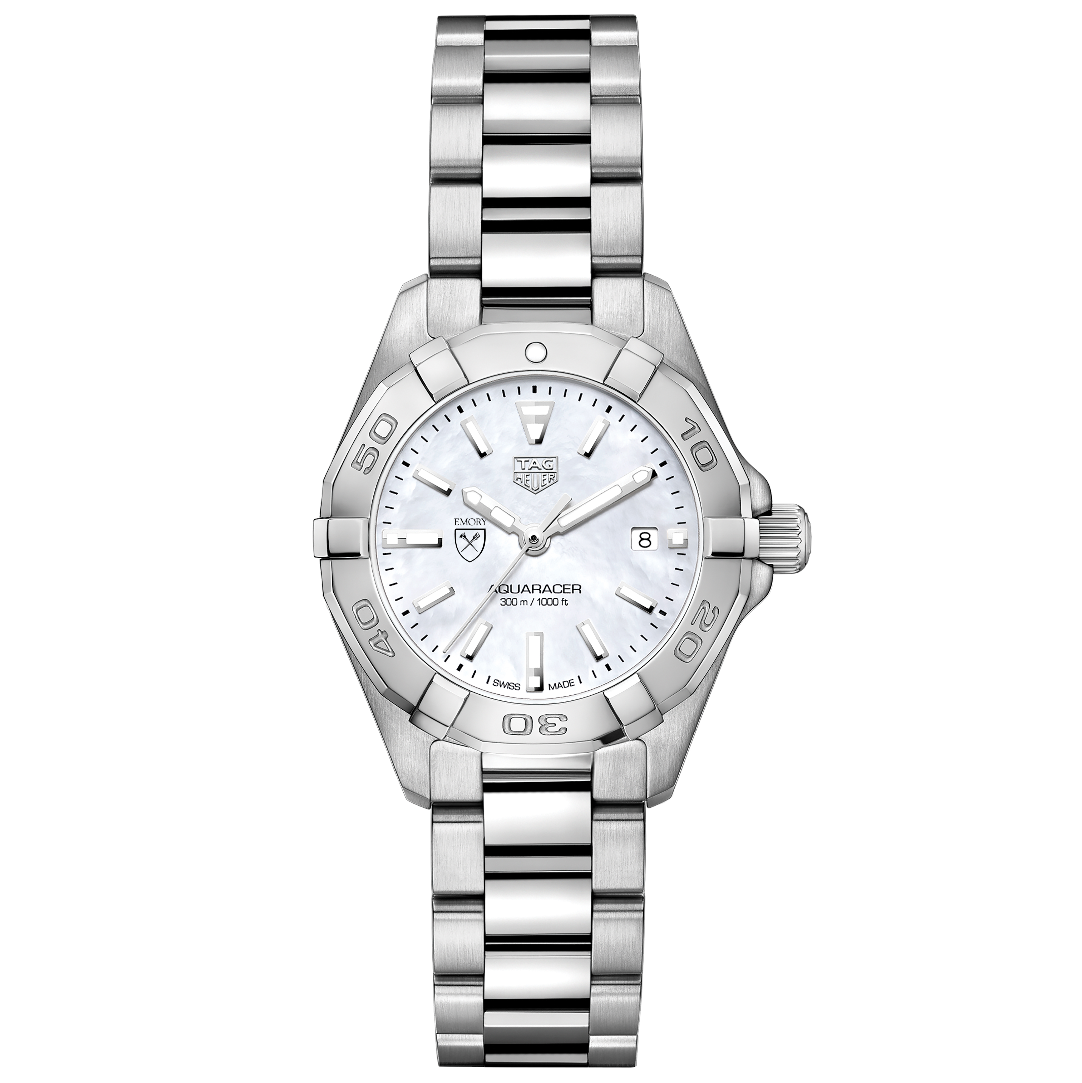 Emory Women's TAG Heuer Steel Aquaracer with MOP Dial - Image 2