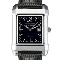 Alabama Men's Black Quad Watch with Leather Strap