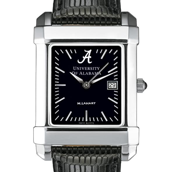 Alabama Men's Black Quad Watch with Leather Strap