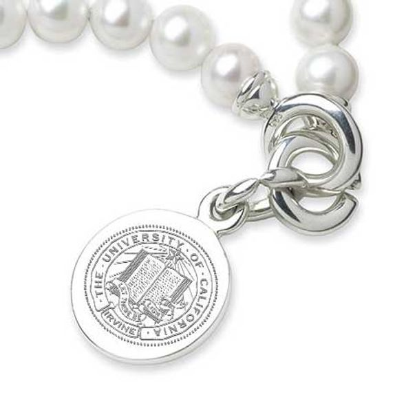 UC Irvine Pearl Bracelet with Sterling Silver Charm - Image 2