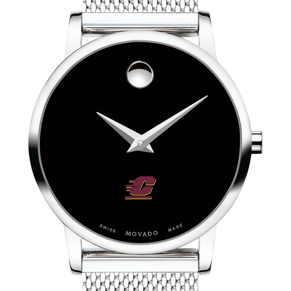 Central Michigan University Women's Movado Museum with Mesh Bracelet - Image 1