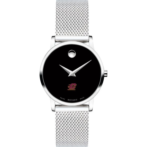 Central Michigan University Women's Movado Museum with Mesh Bracelet - Image 2
