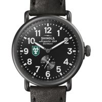 Tulane Shinola Watch, The Runwell 41mm Black Dial