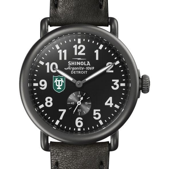 Tulane Shinola Watch, The Runwell 41mm Black Dial