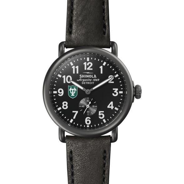 Tulane Shinola Watch, The Runwell 41mm Black Dial - Image 2