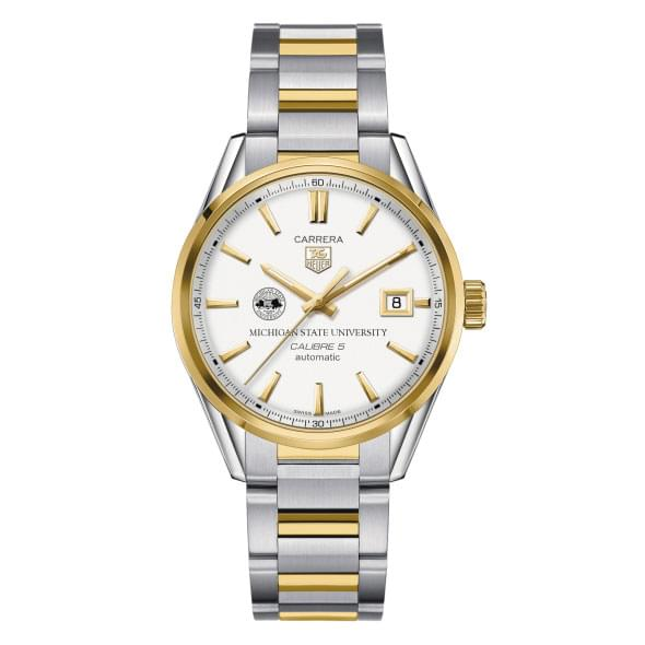 Michigan State Men's TAG Heuer Two-Tone Carrera with Bracelet - Image 2