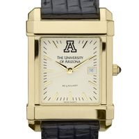 University of Arizona Men's Gold Quad with Leather Strap