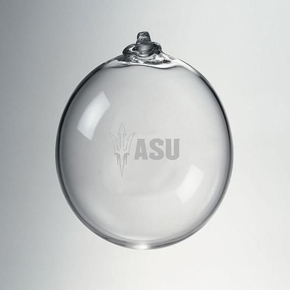 Arizona State Glass Ornament by Simon Pearce