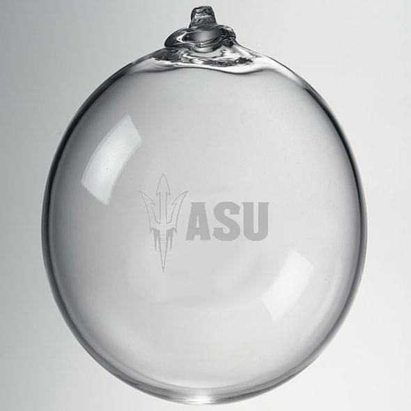 Arizona State Glass Ornament by Simon Pearce - Image 2