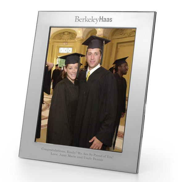 Berkeley Haas Polished Pewter 8x10 Picture Frame - Image 1