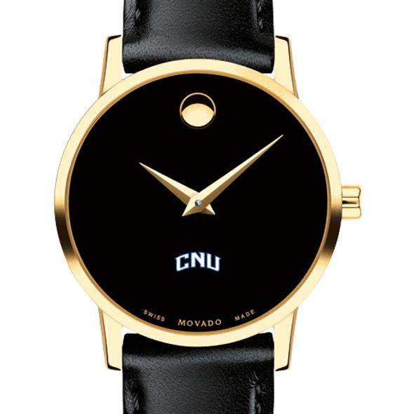 Christopher Newport University Women's Movado Gold Museum Classic Leather