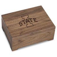 Iowa State University Solid Walnut Desk Box