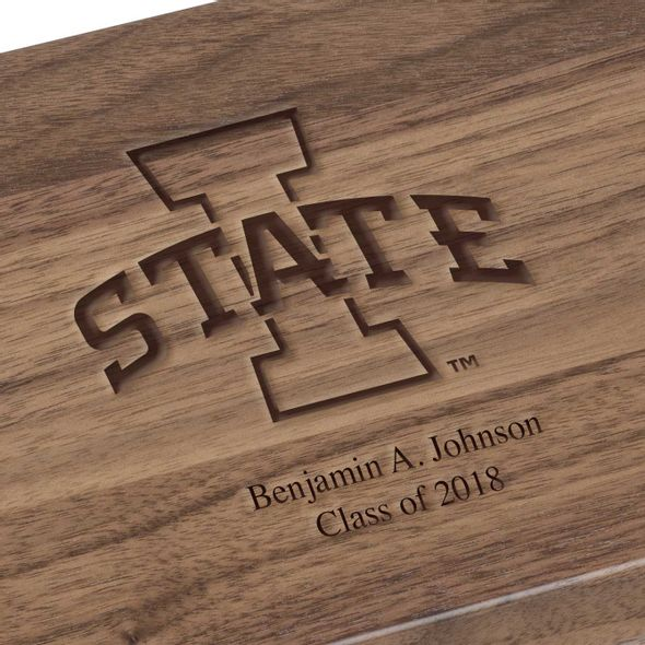 Iowa State University Solid Walnut Desk Box - Image 3