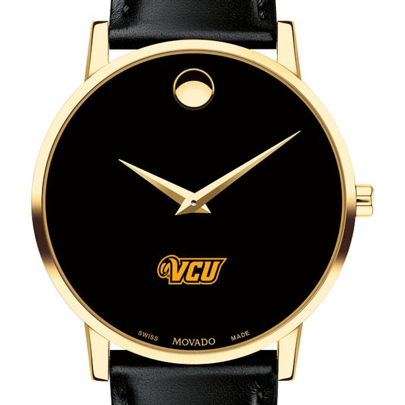 Virginia Commonwealth University Men's Movado Gold Museum Classic Leather - Image 1