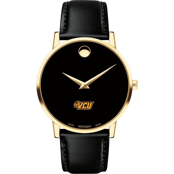 Virginia Commonwealth University Men's Movado Gold Museum Classic Leather - Image 2