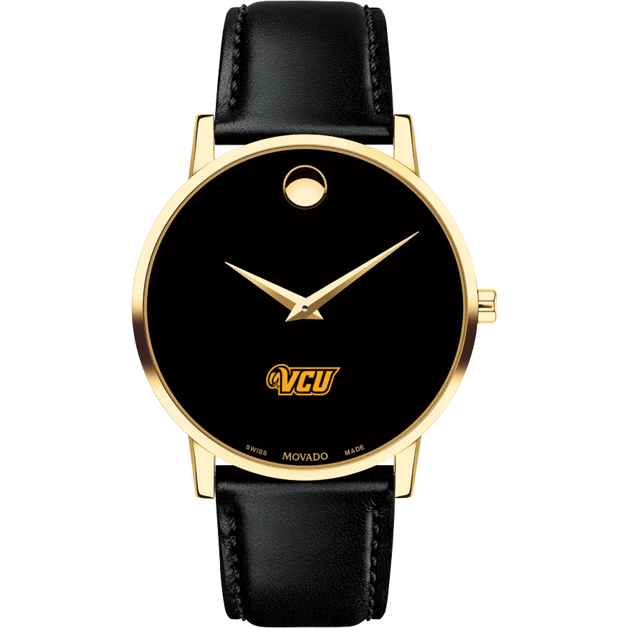 VCU Men's Movado Gold Museum Classic Leather - Image 2