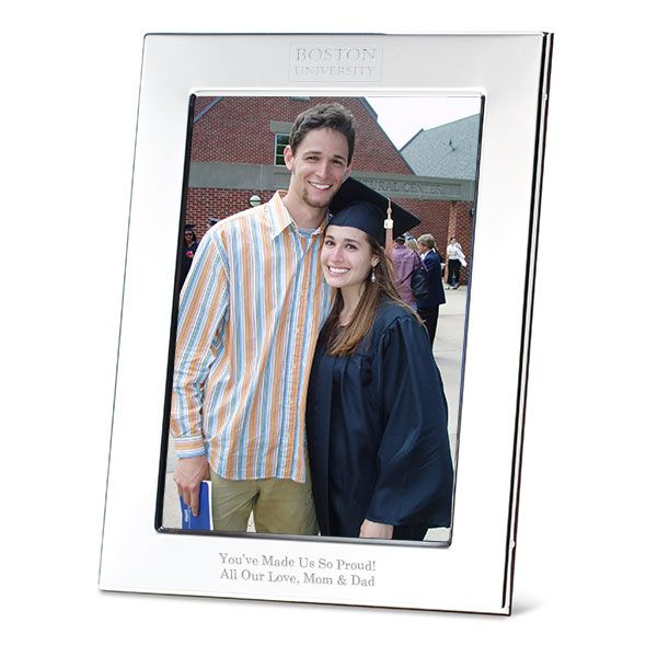 Boston University Polished Pewter 5x7 Picture Frame