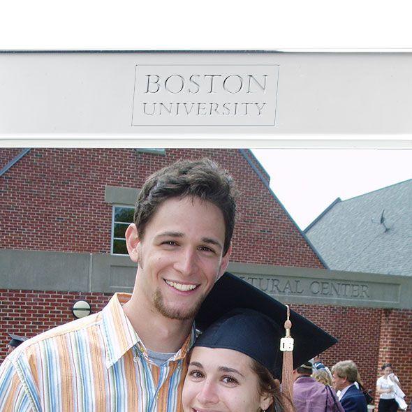 Boston University Polished Pewter 5x7 Picture Frame - Image 2