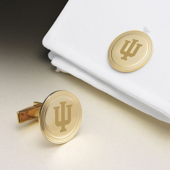 Indiana University 14K Gold Cufflinks - Image 1