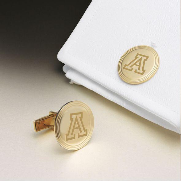 University of Arizona 14K Gold Cufflinks - Image 1
