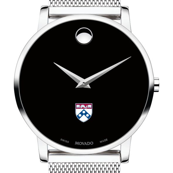 University of Pennsylvania Men's Movado Museum with Mesh Bracelet