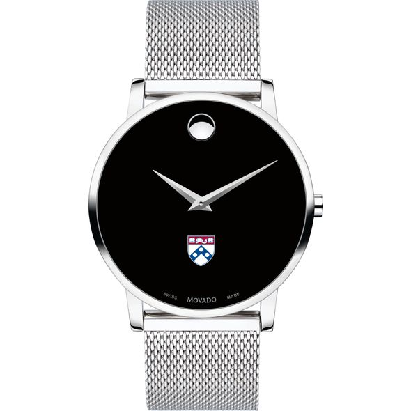 University of Pennsylvania Men's Movado Museum with Mesh Bracelet - Image 2