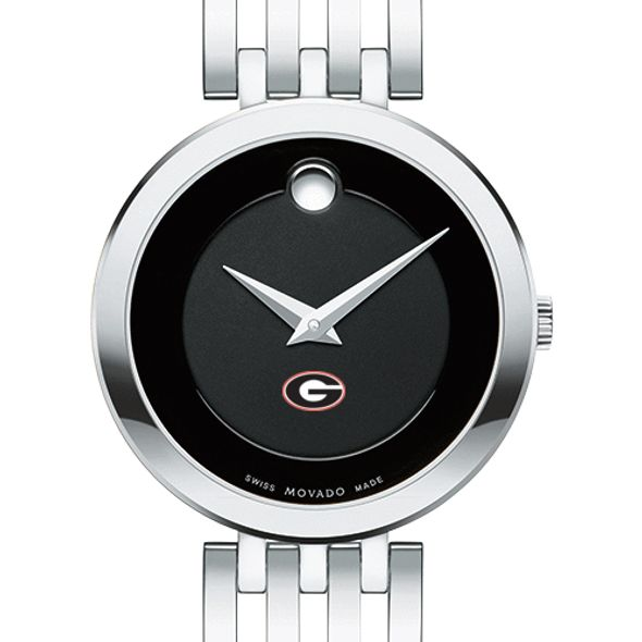 University of Georgia Women's Movado Esparanza Stainless Steel Museum with Bracelet