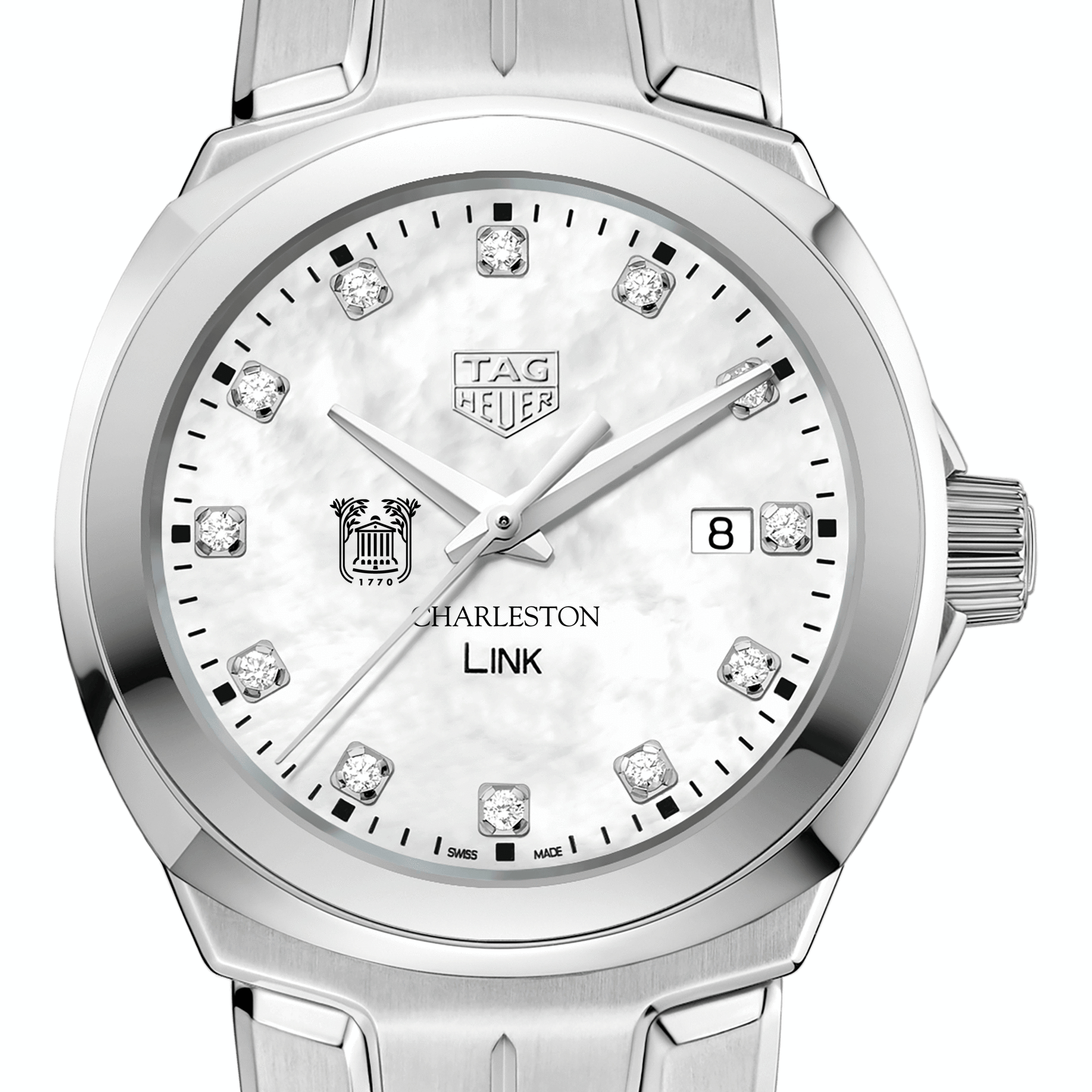 College of Charleston TAG Heuer Diamond Dial LINK for Women