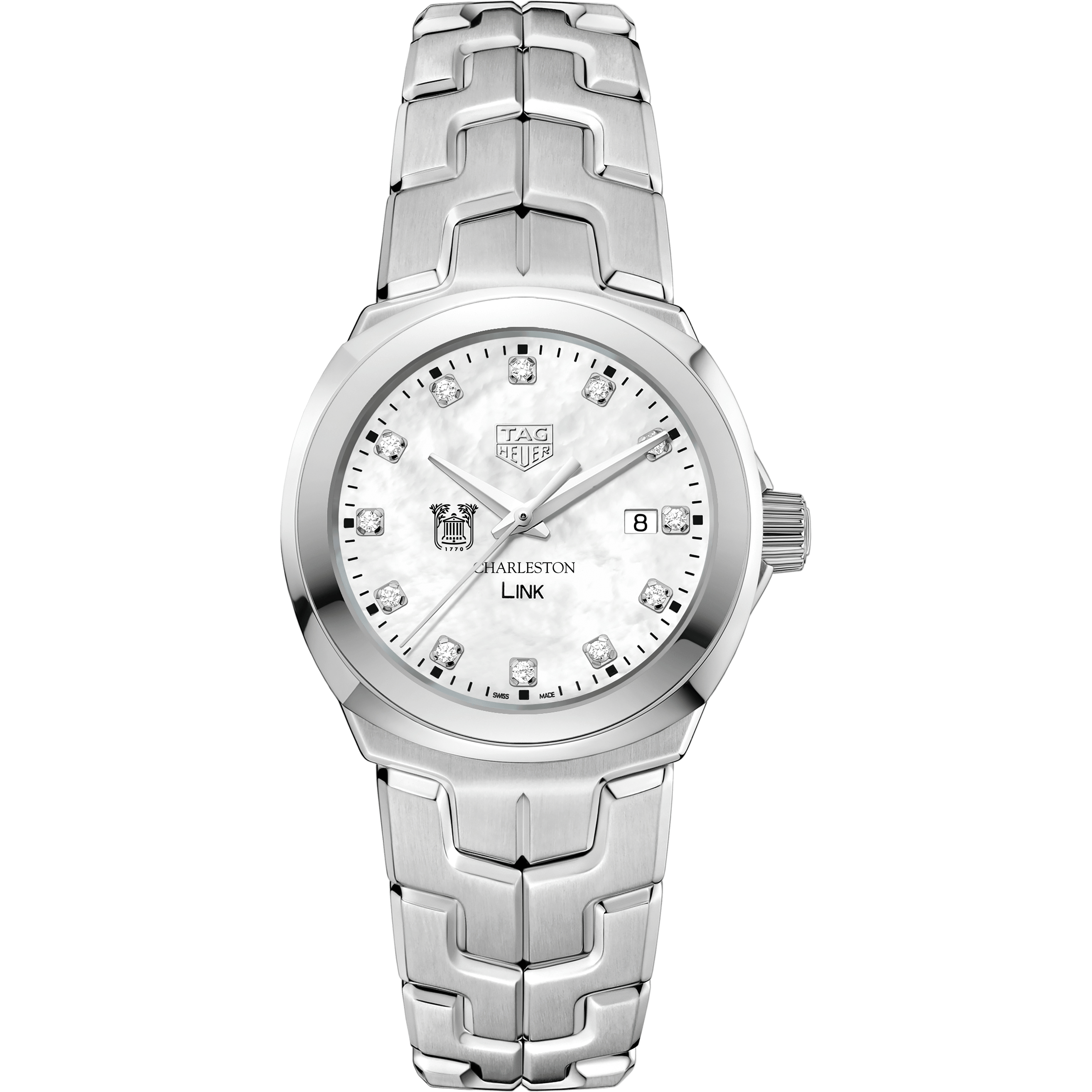 College of Charleston TAG Heuer Diamond Dial LINK for Women - Image 2