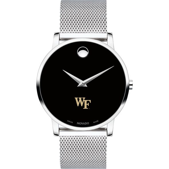 Wake Forest University Men's Movado Museum with Mesh Bracelet - Image 2
