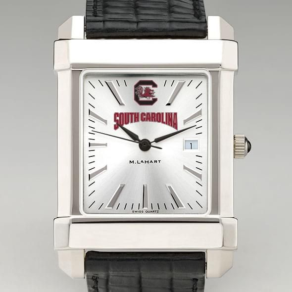 South Carolina Men's Collegiate Watch with Leather Strap - Image 1