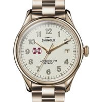 MS State Shinola Watch, The Vinton 38mm Ivory Dial
