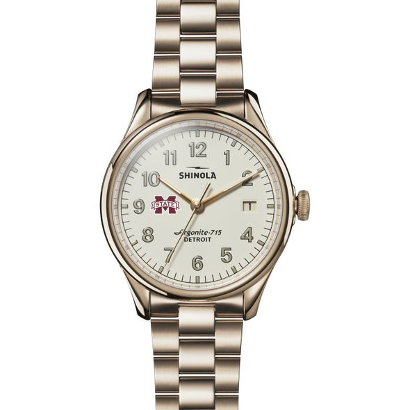 MS State Shinola Watch, The Vinton 38mm Ivory Dial - Image 2