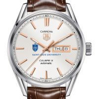 Saint Louis University Men's TAG Heuer Day/Date Carrera with Silver Dial & Strap