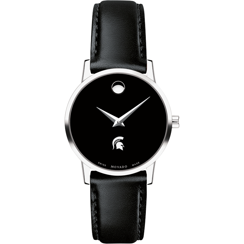 Michigan State Women's Movado Museum with Leather Strap - Image 2