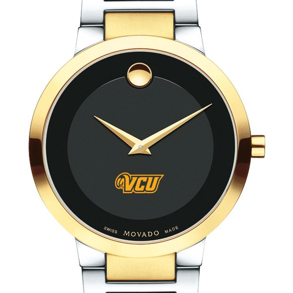 Virginia Commonwealth University Men's Movado Two-Tone Modern Classic Museum with Bracelet