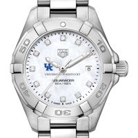 University of Kentucky W's TAG Heuer Steel Aquaracer w MOP Dia Dial