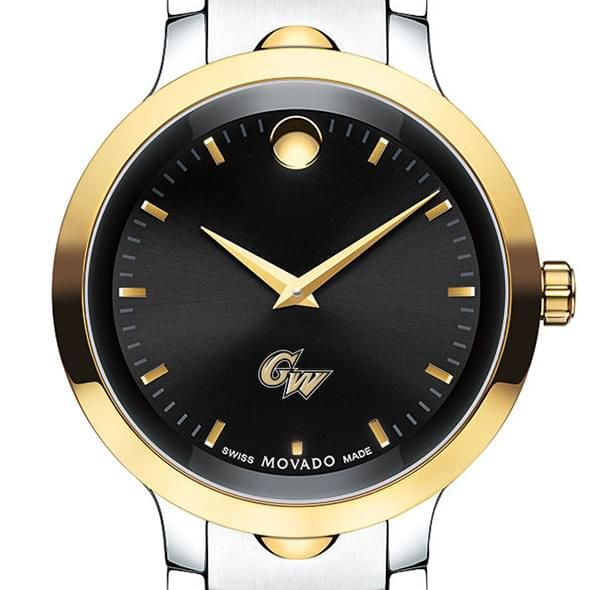 George Washington University Men's Movado Luno Sport Two-Tone
