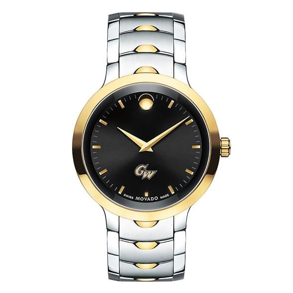 George Washington University Men's Movado Luno Sport Two-Tone - Image 2