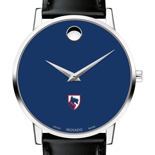 Carnegie Mellon University Men's Movado Museum with Blue Dial & Leather Strap - Image 1