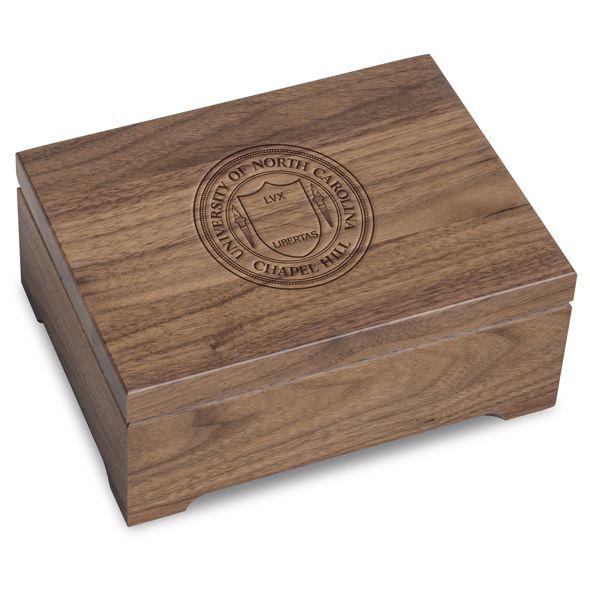 University of North Carolina Solid Walnut Desk Box