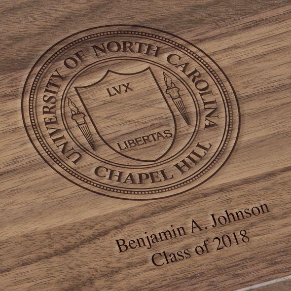 University of North Carolina Solid Walnut Desk Box - Image 3