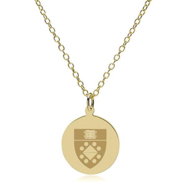 Yale SOM 18K Gold Pendant & Chain - Image 1