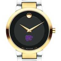 Kansas State University Men's Movado Two-Tone Modern Classic Museum with Bracelet