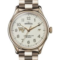 Wake Forest Shinola Watch, The Vinton 38mm Ivory Dial
